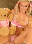 DebbieTeen: Debbie strips for teddy bear