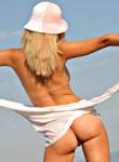 DebbieTeen: Sunday pussygame on the beach